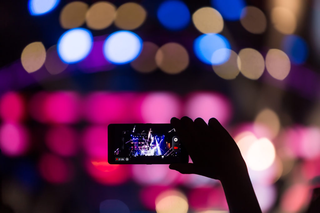 People Taking Live Videos With Touch Smart Phone